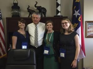 Allison Taylor, Senator Norman Sanderson, Sarah Willis, Sabrina Carraway at 4-H Citizenship Focus