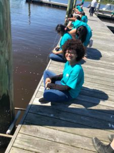 4-H'ers had the opportunity to try their hand at crabbing with at SED Teen Retreat.