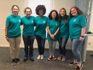 Carteret County 4-H'ers with SED Officers