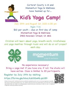 Cover photo for Carteret County 4-H Offers Kid's Yoga Camp