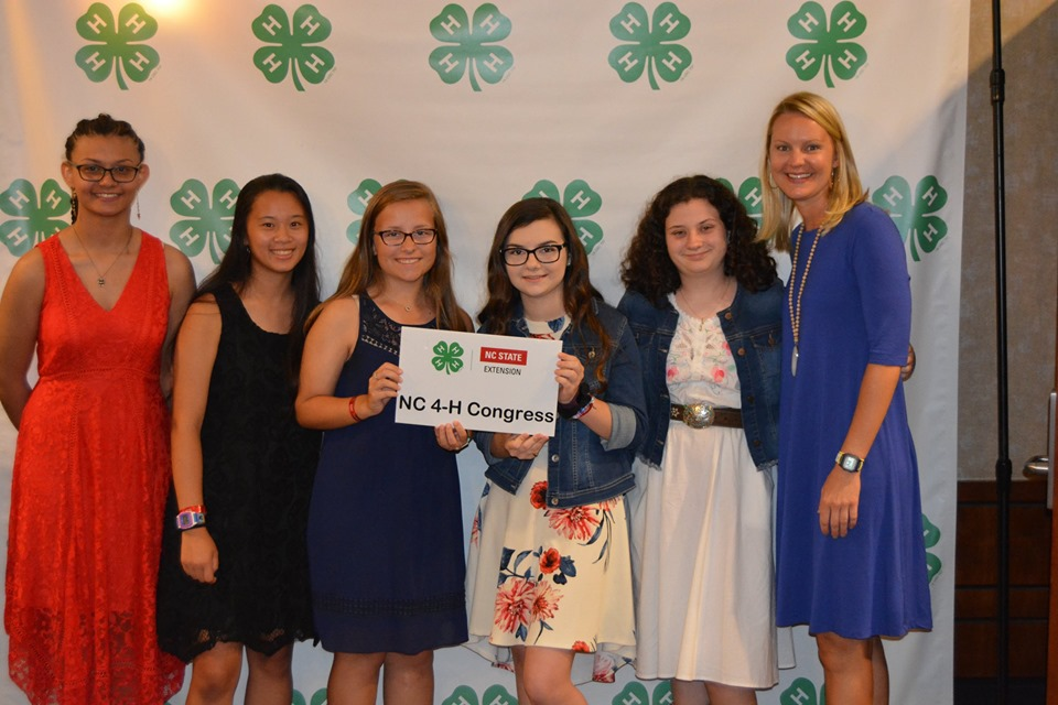 Carteret County youth attending the Clover Gala to close NC 4-H Congress 2019.