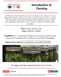 Cover photo for Home Food Preservation - Introduction to Canning
