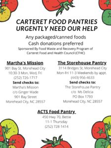Carteret Food Pantries Urgently Need Our Help