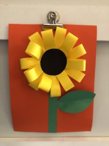 Completed Sunflower Art Project