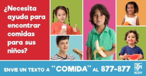 finding meals for your child in Spanish