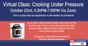 Cover photo for Virtual Class: Cooking Under Pressure