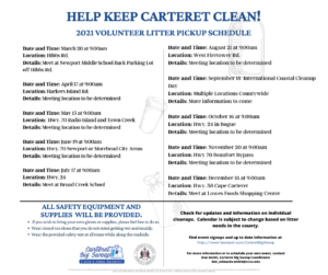 Roadside Litter Cleanup Schedule