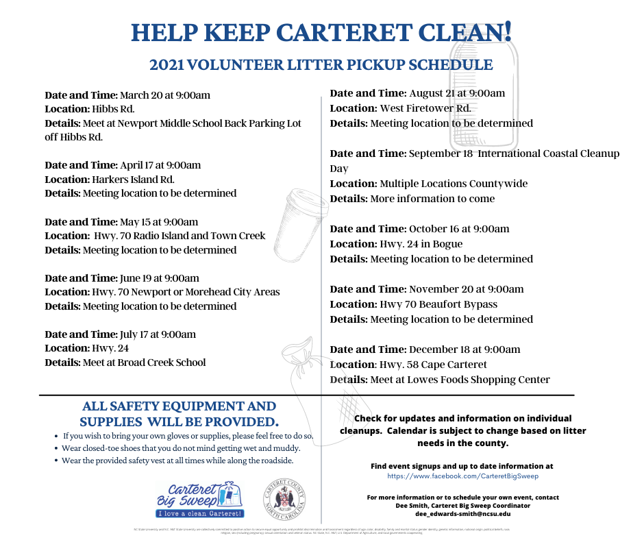Help Keep Carteret Clean flyer image