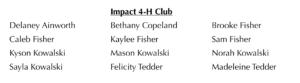 Impact Club Participants