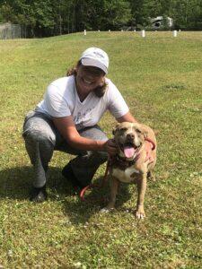 Volunteer and Dog