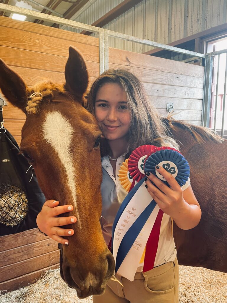 Delaney M with horse