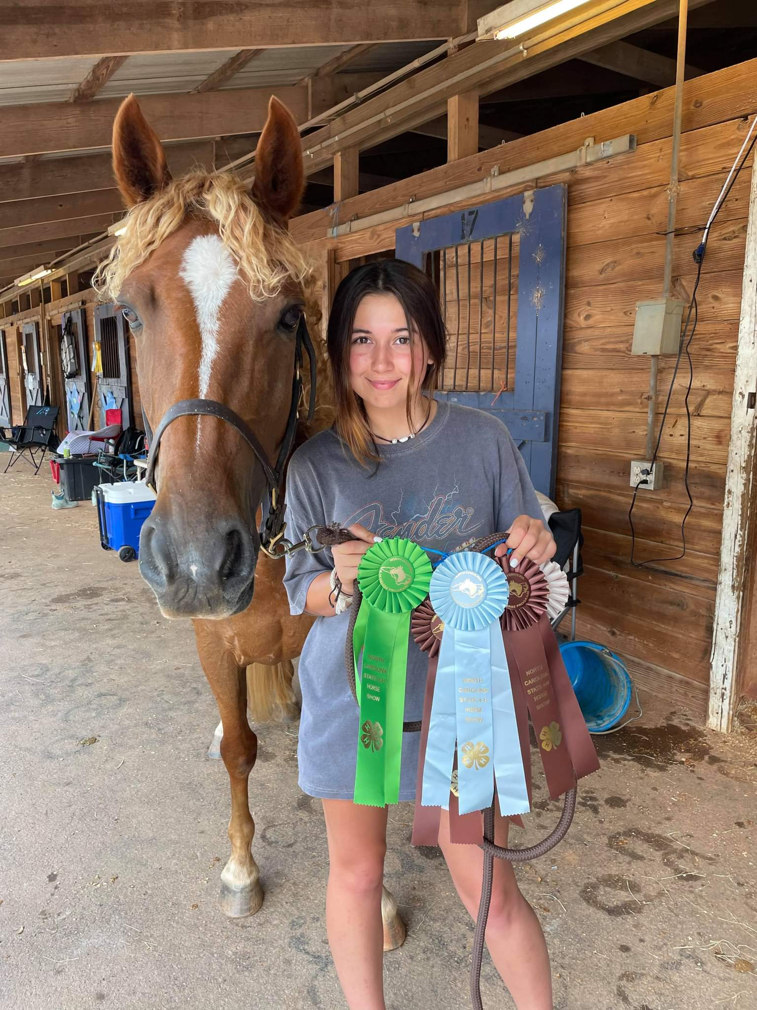Delaney Meadows with ribbons