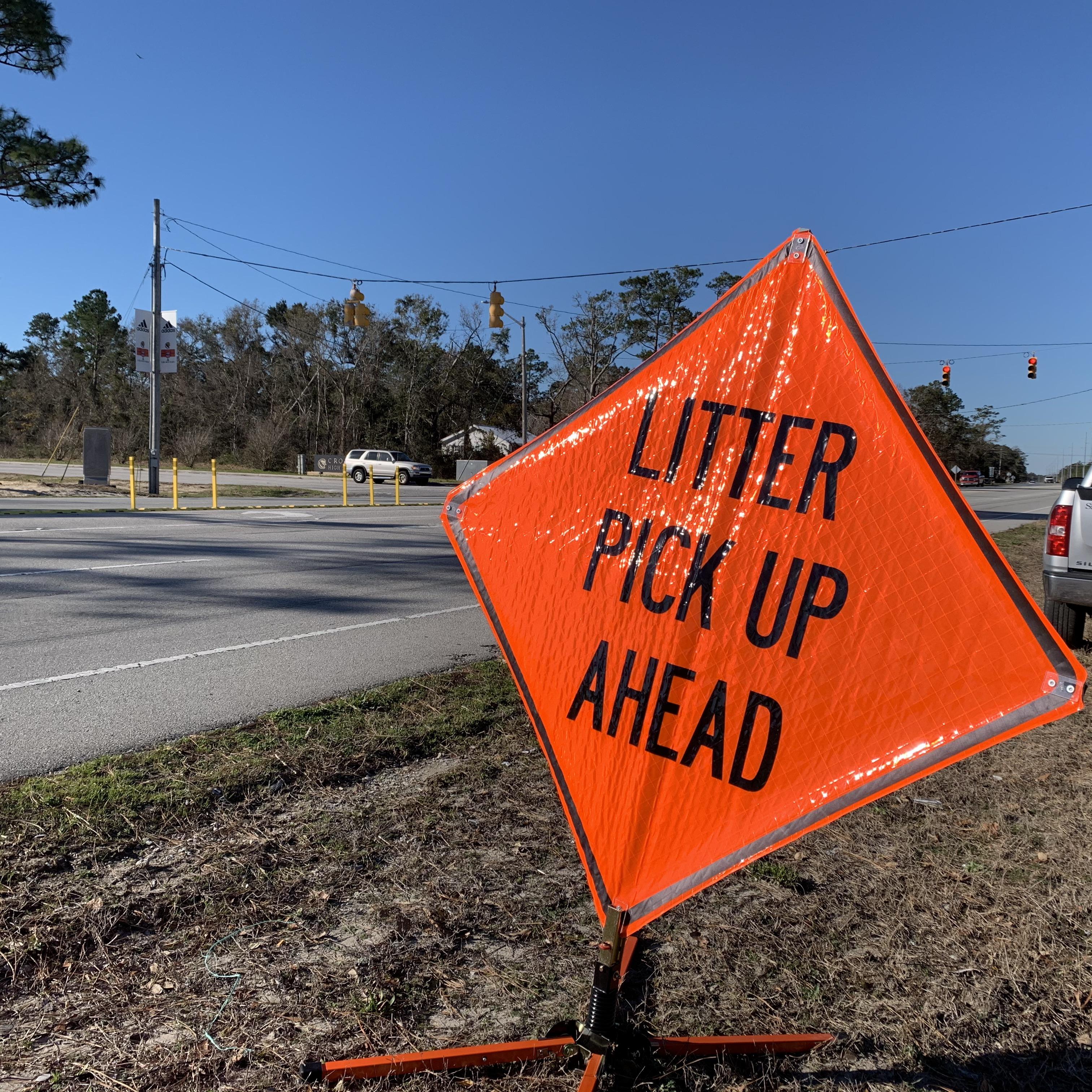 Litter Pickup Sign